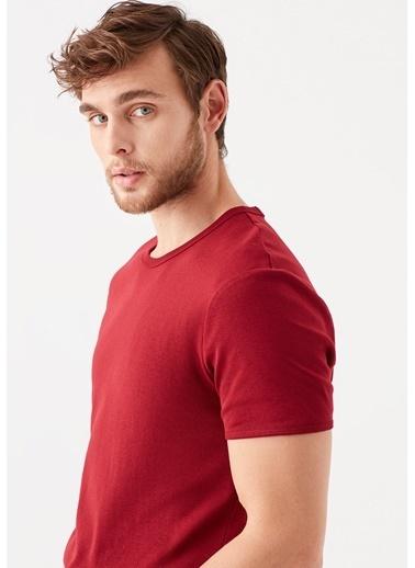 Mavi Kırmızı Basic Tişört Kırmızı
